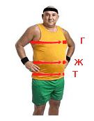 Таблица размеров одежды магазина мужской одежды большого размера